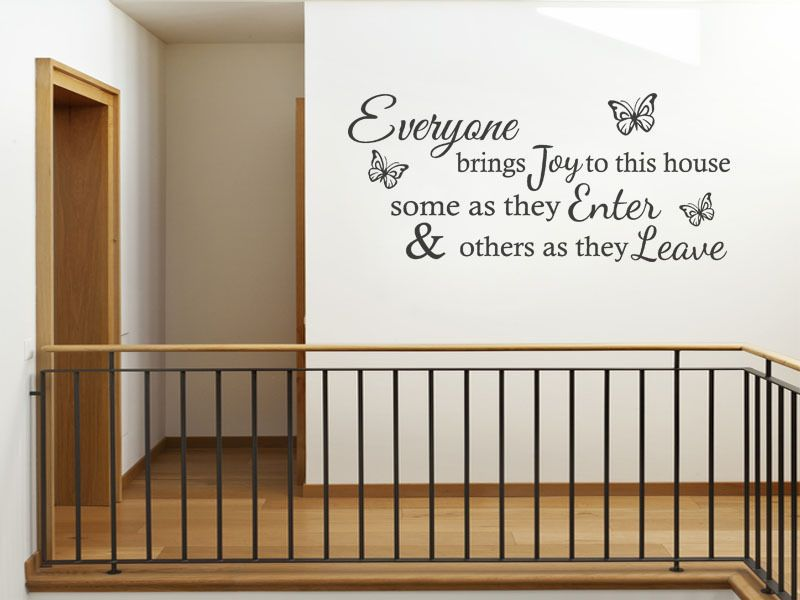 Everyone Brings Joy To This House Wall Art Quote Decal